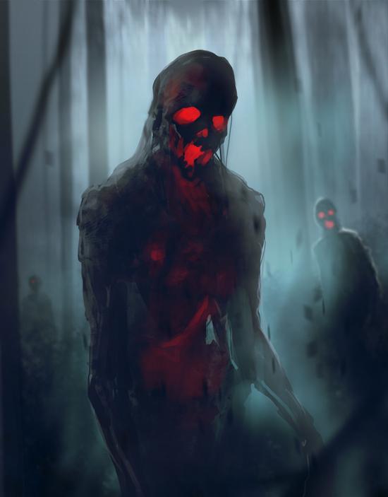 Skeleton Zombies Walking